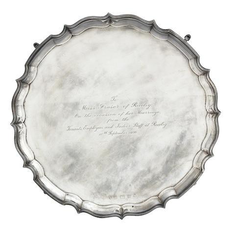 A 20th century silver presentation salver by