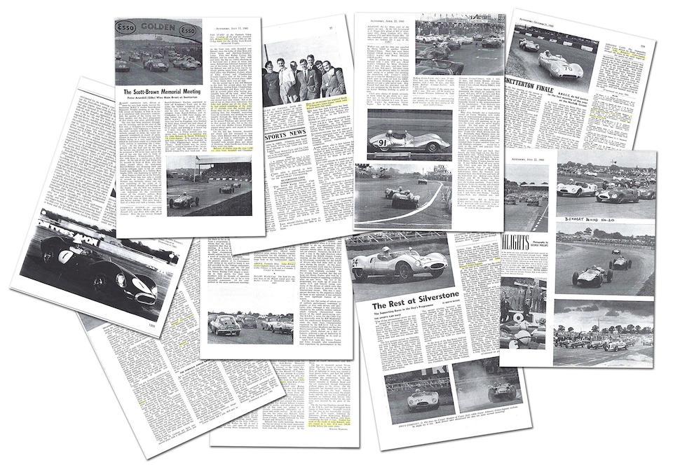 "The Ex-Peter Whitehead, John Bekaert, Bill de Selincourt,1959 Lister-Jaguar ""Knobbly"" 3.8-Litre Sports-Racing Two-Seater  Chassis no. BHL 103"