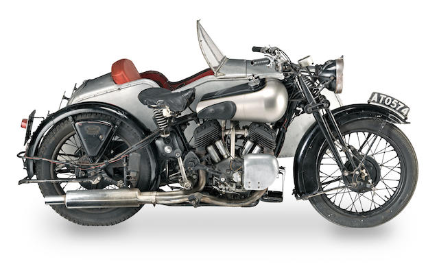 1934 ISDT; ex-'Dad's Army' and 'George & Mildred', 1933 Brough Superior 1,096cc 11-50hp Combination Frame no. 8/1251 Engine no. LTZ/Z 31972/SD