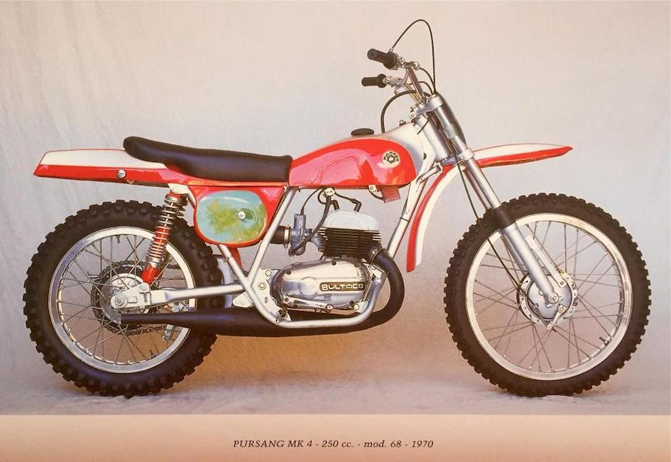 c.1970 Bultaco 244cc Pursang 250 Mk. 4 Frame no. B-6802184 Engine no. M-6802184