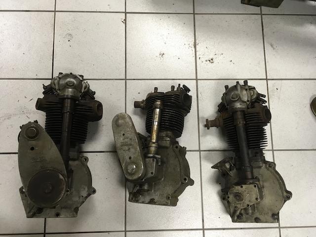 Three c.1930 OHC Velocette engines  ((3))