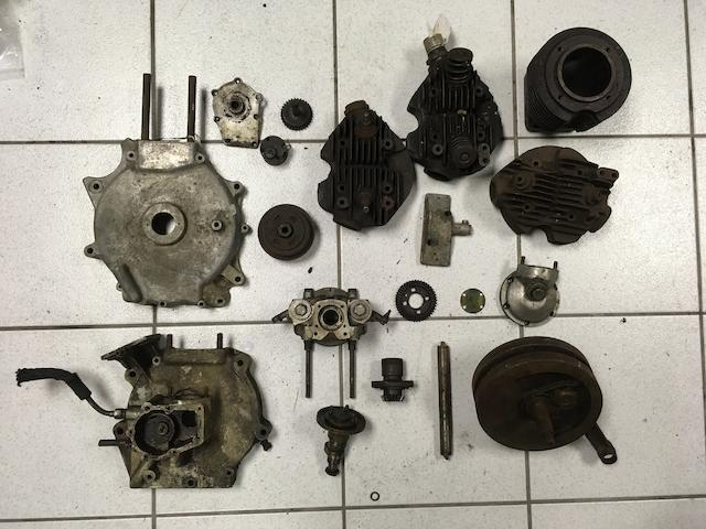 An assortment of Velocette engine components  ((Qty))