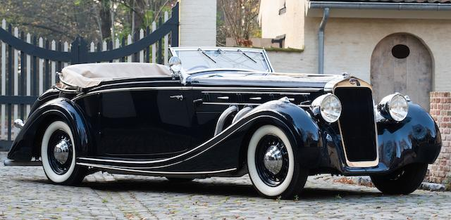 Single family ownership for over 50 years,1937 Delage D8 120 Three Position Drophead Coupé Chassis no. 50790