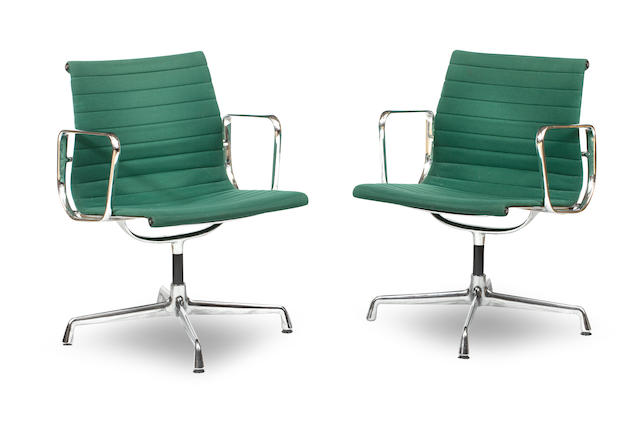 Charles and Ray Eames, A set of ten Aluminium Group chairs