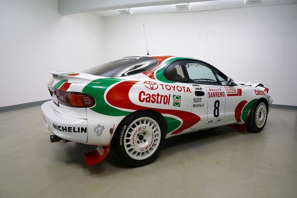 The ex-Toyota Team Europe, Didier Auriol/Bernard Occelli,1994 Toyota  Celica ST185 Turbo 4WD Group A Rally Car  Chassis no. NJT164STJ500014916