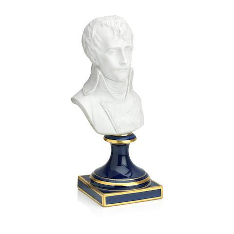 A Sèvres style biscuit portrait bust of Napoléon Bonaparte