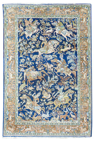 An Isfahan hunting rug Central Persia 138cm x 189cm