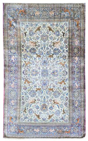 A Kashan rug Central Persia 127cm x 204cm