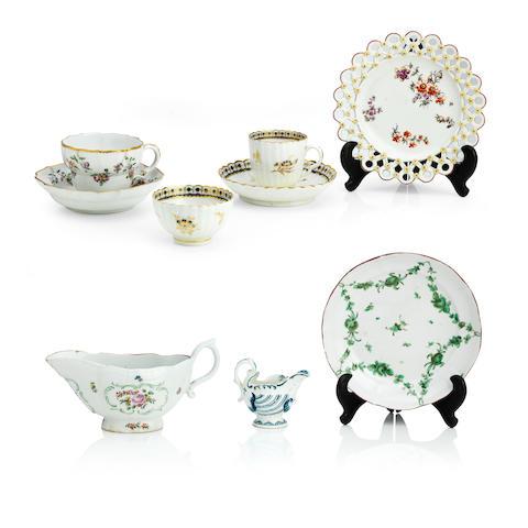 A group of English porcelain Circa 1765-85