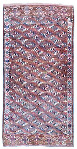 A Turkoman carpet  164cm  x 296cm