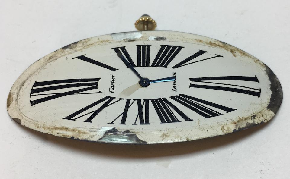 Cartier. A rare oversized 18K gold manual wind oval wristwatch  Maxi Oval, London Hallmark for 1968