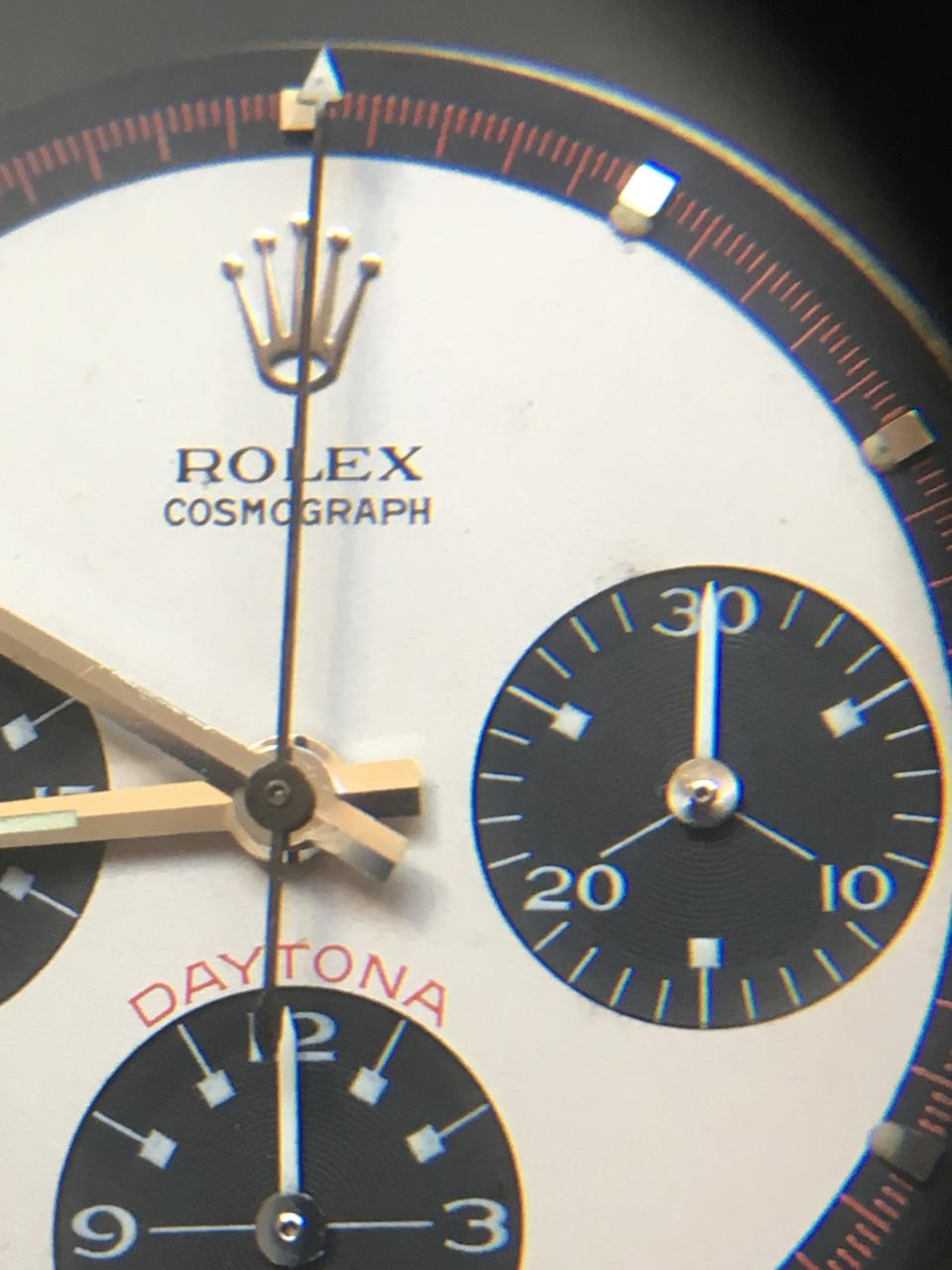 Rolex. An exceptionally rare stainless steel manual wind chronograph bracelet watch with exotic Paul Newman dial Paul Newman Cosmograph Daytona, Ref: 6239, Circa 1967