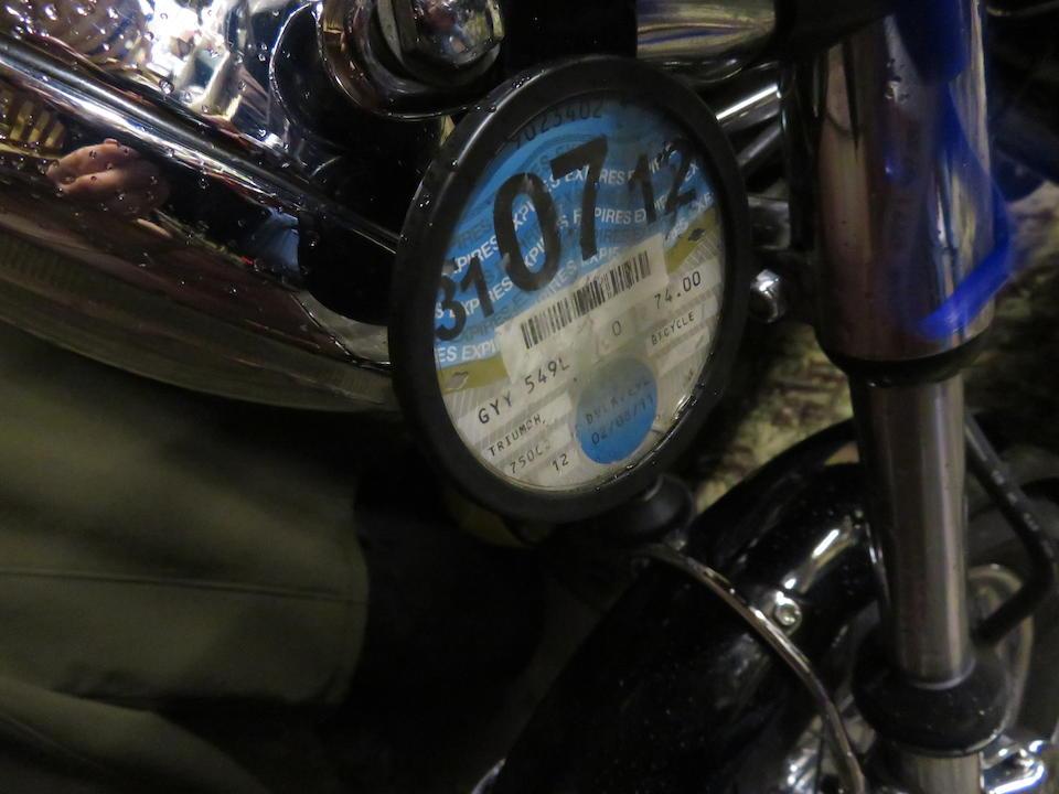 1973 Triumph 750cc T150V Trident Frame no. T150V CH03639 Engine no. T150V CH03639