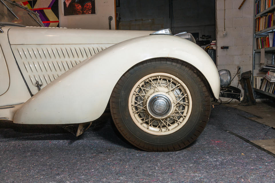 One of fewer than a dozen known survivors,1938 Talbot Lago T23 'Baby' 4.0-Litre Cabriolet  Chassis no. 93035