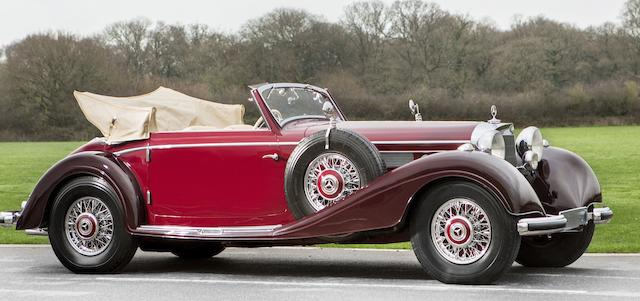 Formerly the property of His Majesty King Hussein bin Talal, former King of Jordan,1939 Mercedes-Benz  540 K Cabriolet A  Chassis no. 408386