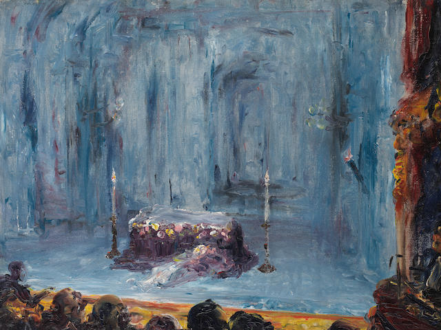 Jack B. Yeats R.H.A. (Irish, 1871-1957) Romeo and Juliet (The Last Act) 45.8 x 61.1 cm. (18 x 24 in.) (Painted in 1927)