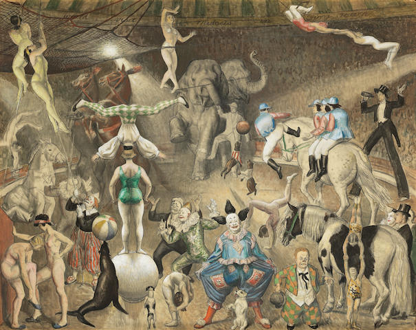 Dame Laura Knight, RA, RWS (British, 1877-1970) Charivari (The Grand Parade) (Executed in 1928)