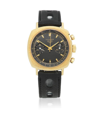 Heuer. A gold plated manual wind chronograph wristwatch  Camaro, Ref: 73345, Circa 1970