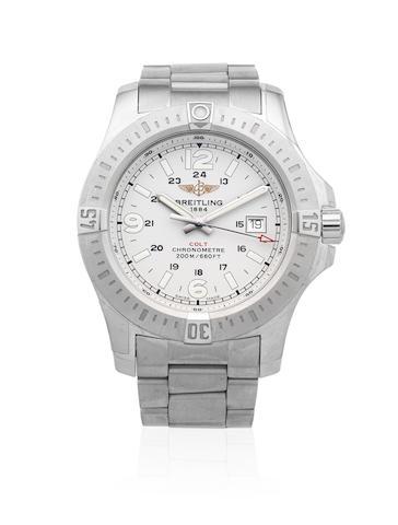 Breitling. A stainless steel quartz calendar bracelet watch  Colt, Ref: A74388, Sold 9th January 2016