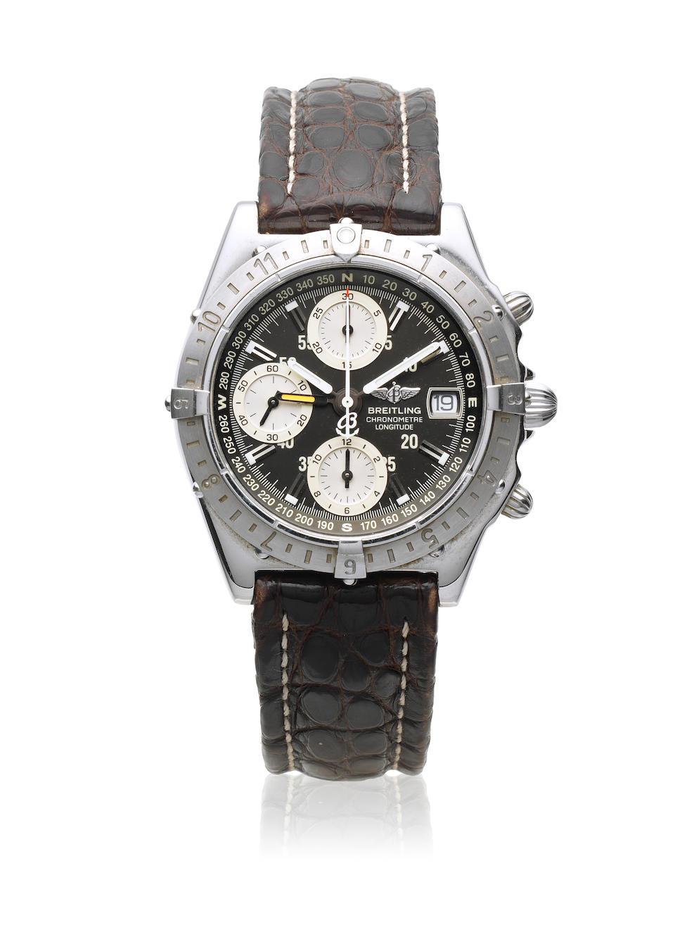 Breitling. A stainless steel automatic calendar chronograph wristwatch  Chronomat Longitude, Ref: A20348, Circa 2000