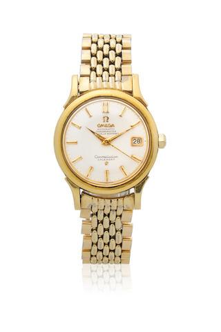 Omega. An 18K gold automatic calendar bracelet watch  Constellation Calendar, Ref: 2943 2954 SC, Circa 1958