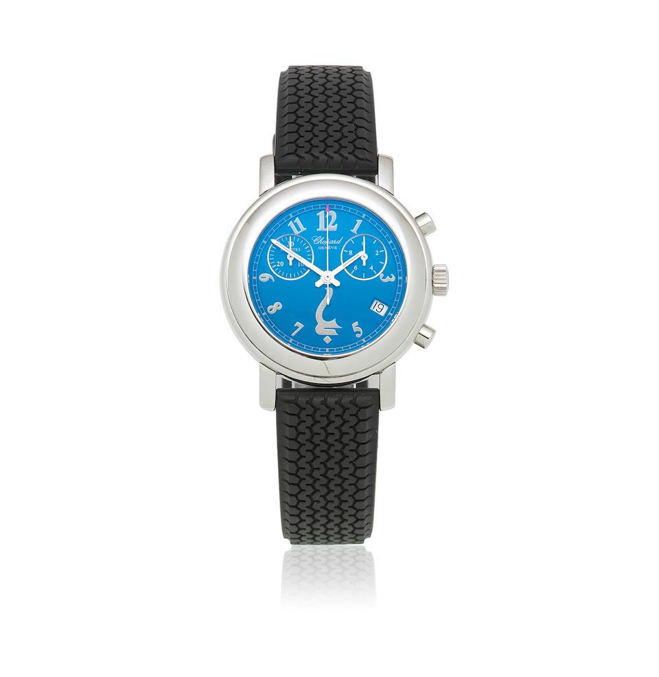Chopard. A stainless steel mid-size quartz calendar chronograph wristwatch  Godolphin, Ref: 8900, Circa 2005