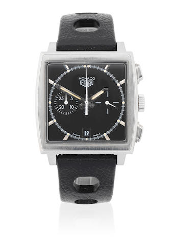 TAG Heuer. A Limited Edition stainless steel automatic calendar chronograph wristwatch  Monaco, Ref: CS2110, No.2394/5000, Sold 30th September 1998