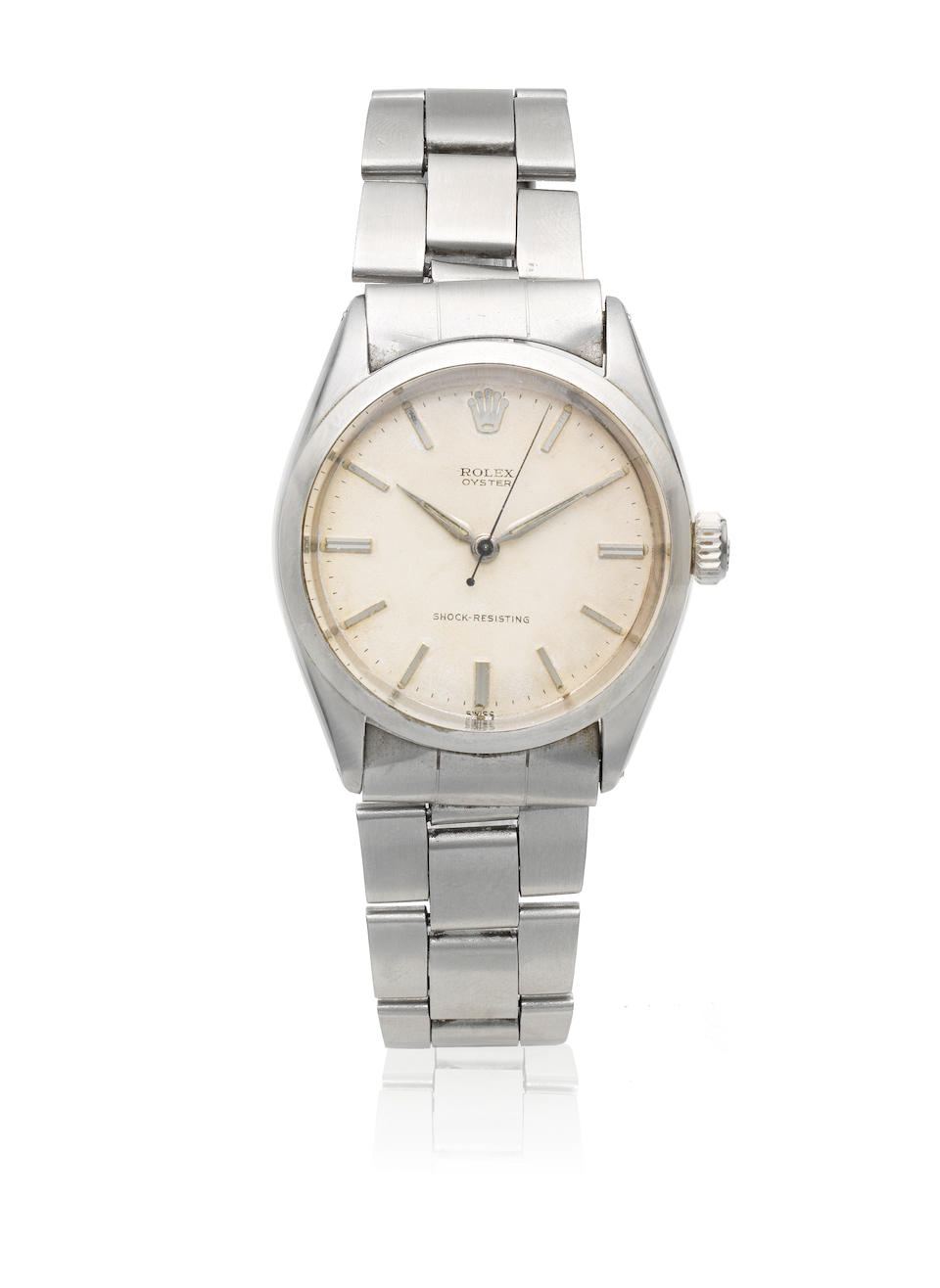 Rolex. A stainless steel manual wind bracelet watch  Oyster, Ref: 6480, Sold 11th January 1961