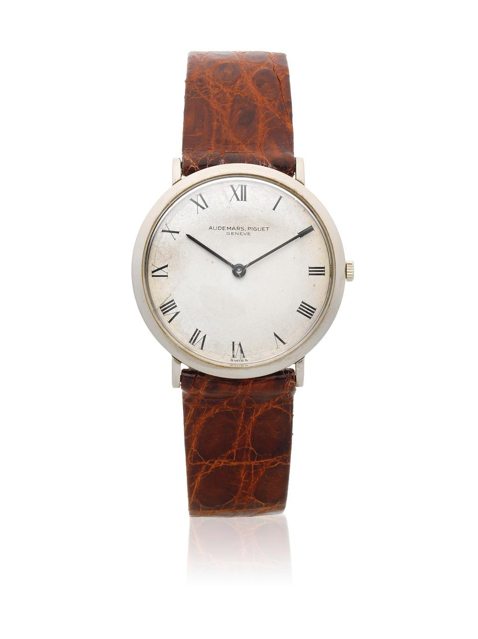 Audemars Piguet. An 18K white gold manual wind wristwatch Circa 1960