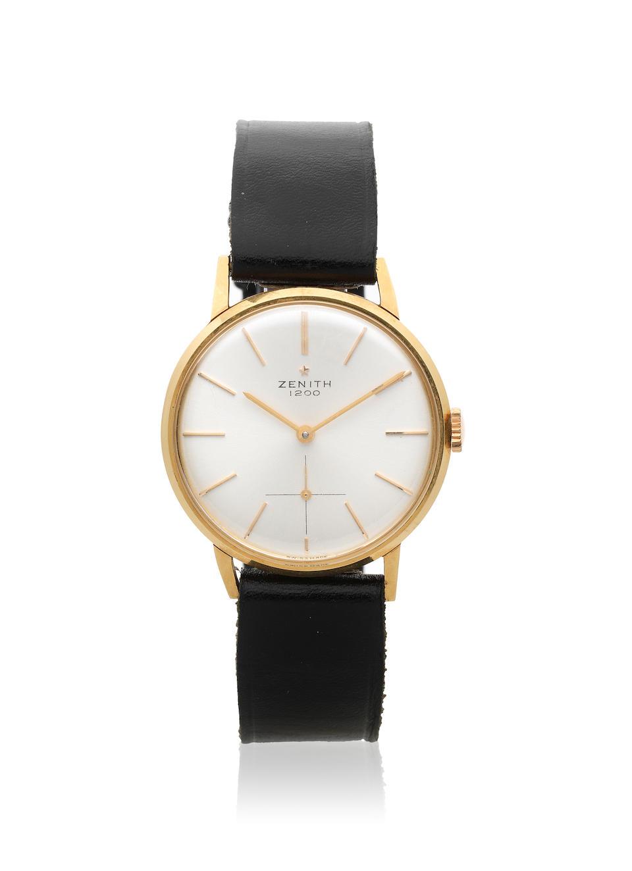 Zenith. An 18K gold manual wind wristwatch Ref: 246 A 603, Circa 1955