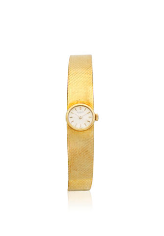 Patek Philippe. A lady's 18K gold manual wind bracelet watch Ref: 3266, Circa 1967
