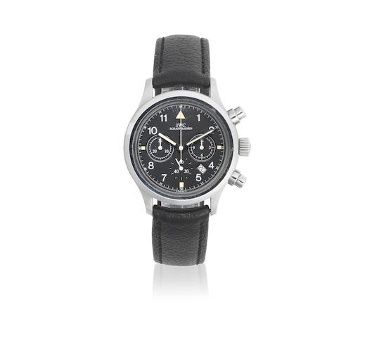 IWC. A stainless steel quartz calendar chronograph wristwatch  Pilots Flieger Chronograph , Ref: 3740, Circa 2000