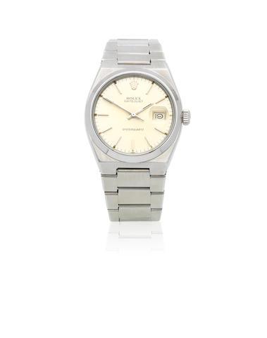 Rolex. A stainless steel quartz calendar bracelet watch  Oysterquartz Datejust, Ref: 17000, Circa 1978