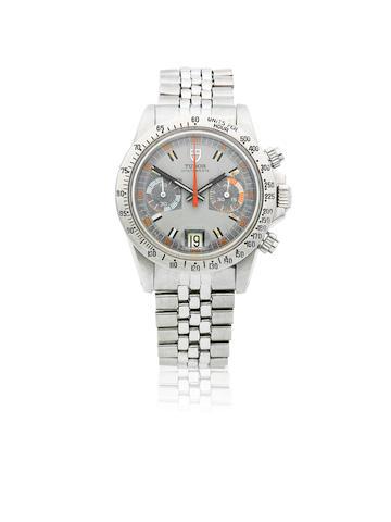 Tudor. A stainless steel manual wind calendar chronograph bracelet watch  Oysterdate Monte Carlo, Ref: 7159/0, Circa 1972