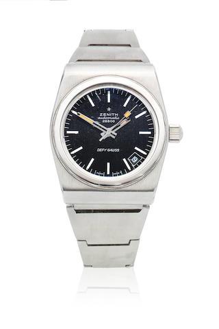 Zenith. A stainless steel automatic calendar bracelet watch  Defy Gauss, Ref: 28800, Circa 1970