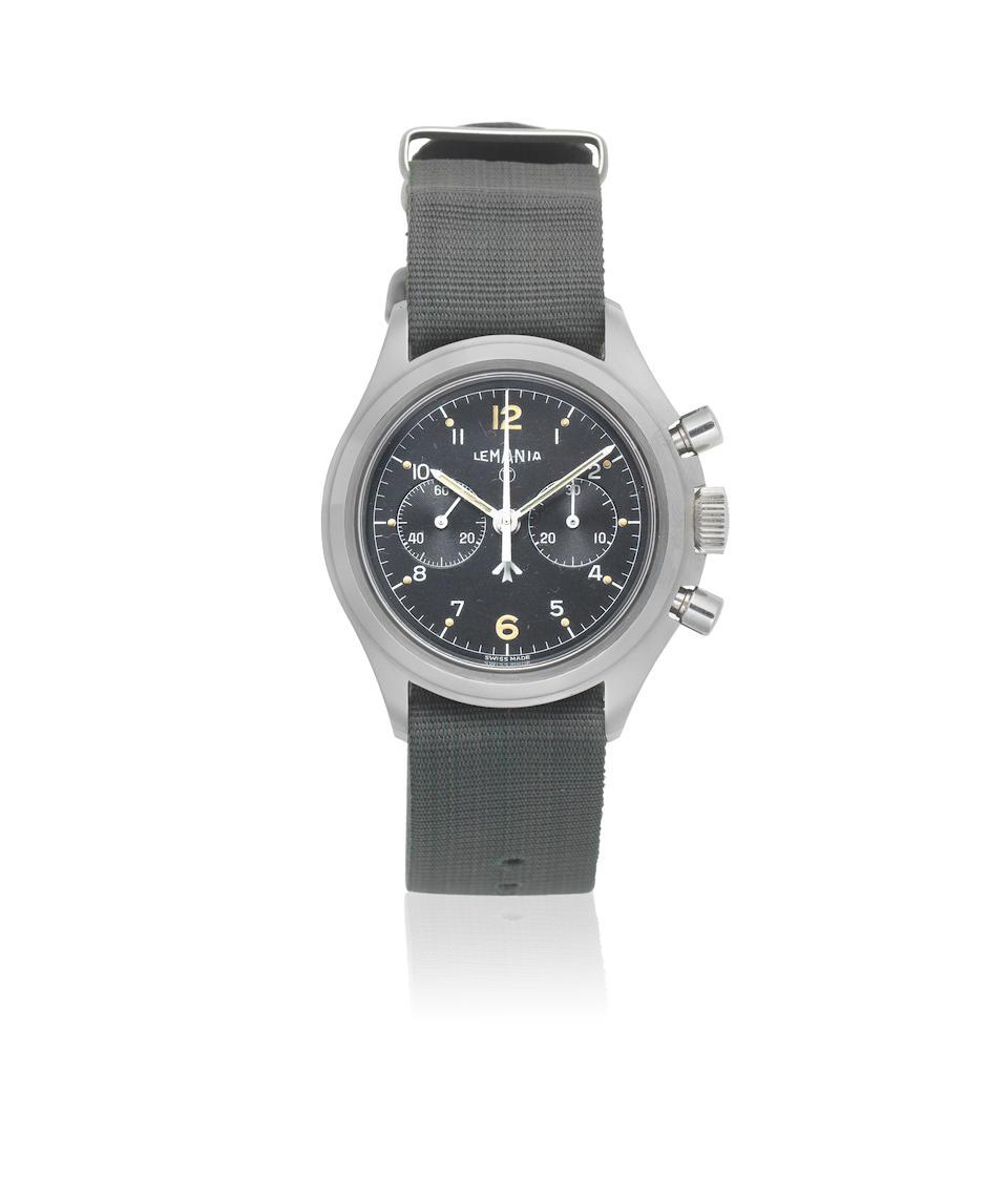 Bonhams : Lemania  A stainless steel manual wind chronograph