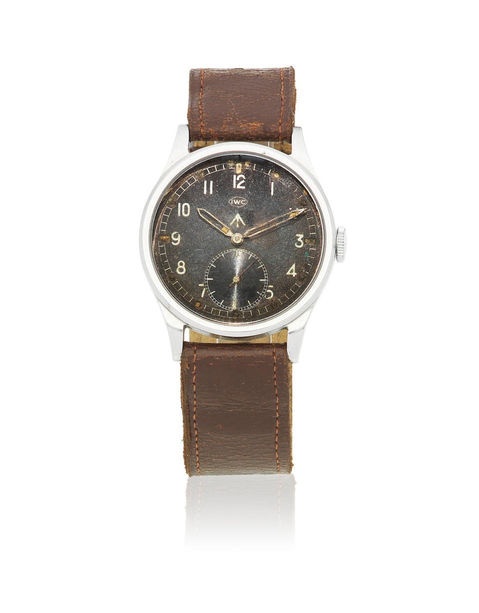 IWC. A stainless steel manual wind military issue wristwatch  Mk X 'Dirty Dozen', Circa 1943