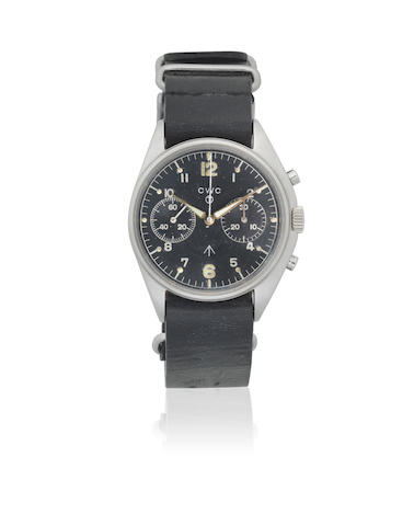 CWC. A stainless steel manual wind military chronograph pilots wristwatch issued to the RAF  'Fab Four', Circa 1980