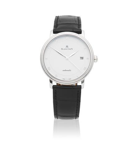 Blancpain. A stainless steel automatic calendar wristwatch  Villeret, Ref: 6223, Circa 2010