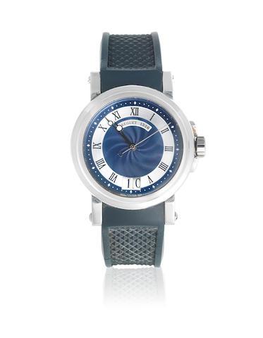 Breguet. A stainless steel automatic calendar wristwatch  Marine, Ref: 5817, Circa 2006