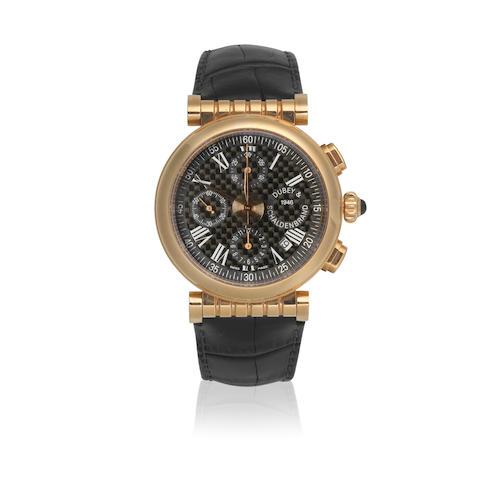 Dubey & Schaldenbrand. A Limited Edition 18K rose gold automatic calendar chronograph wristwatch  Spiral One, Creation No.1, Recent