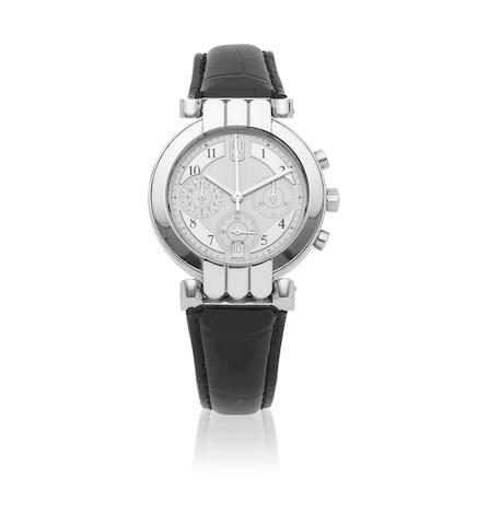 Harry Winston. An 18K white gold automatic calendar chronograph wristwatch  Premier, Circa 2000