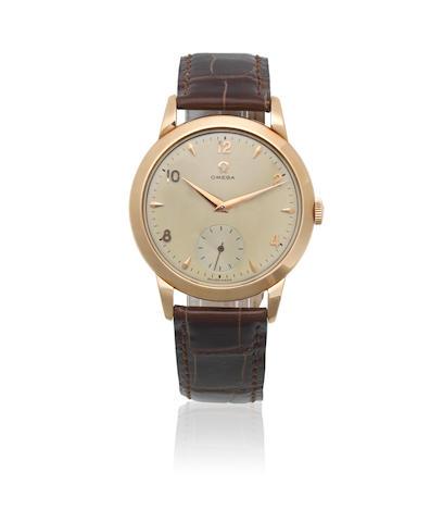 Omega. An 18K gold manual wind wristwatch Ref: 2684, Circa 1954