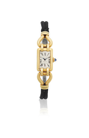 Cartier. A lady's early 18K gold manual wind wristwatch Ref: 4201, London Import mark for 1929