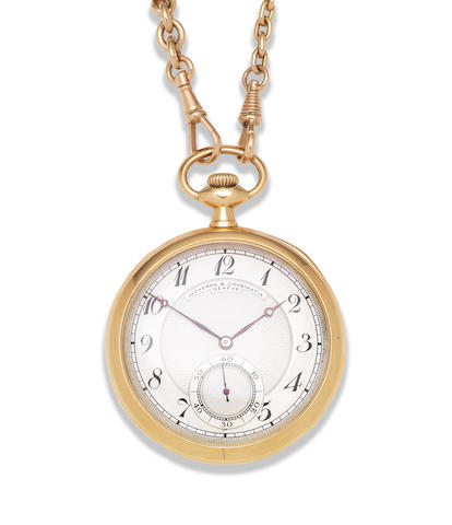 Vacheron & Constantin. An 18K gold open face pocket watch Circa 1925