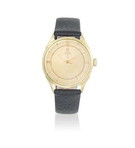 Omega. An 18K gold bumper automatic wristwatch Circa 1944