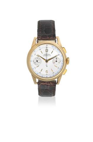 Vulcain. An 18K gold manual wind chronograph wristwatch Circa 1960