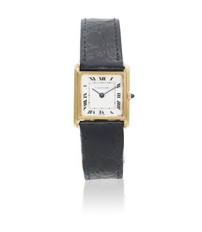 Cartier for Bueche Girod. A lady's 18K gold manual wind square wristwatch Ref: 19476.2.68, Circa 1960