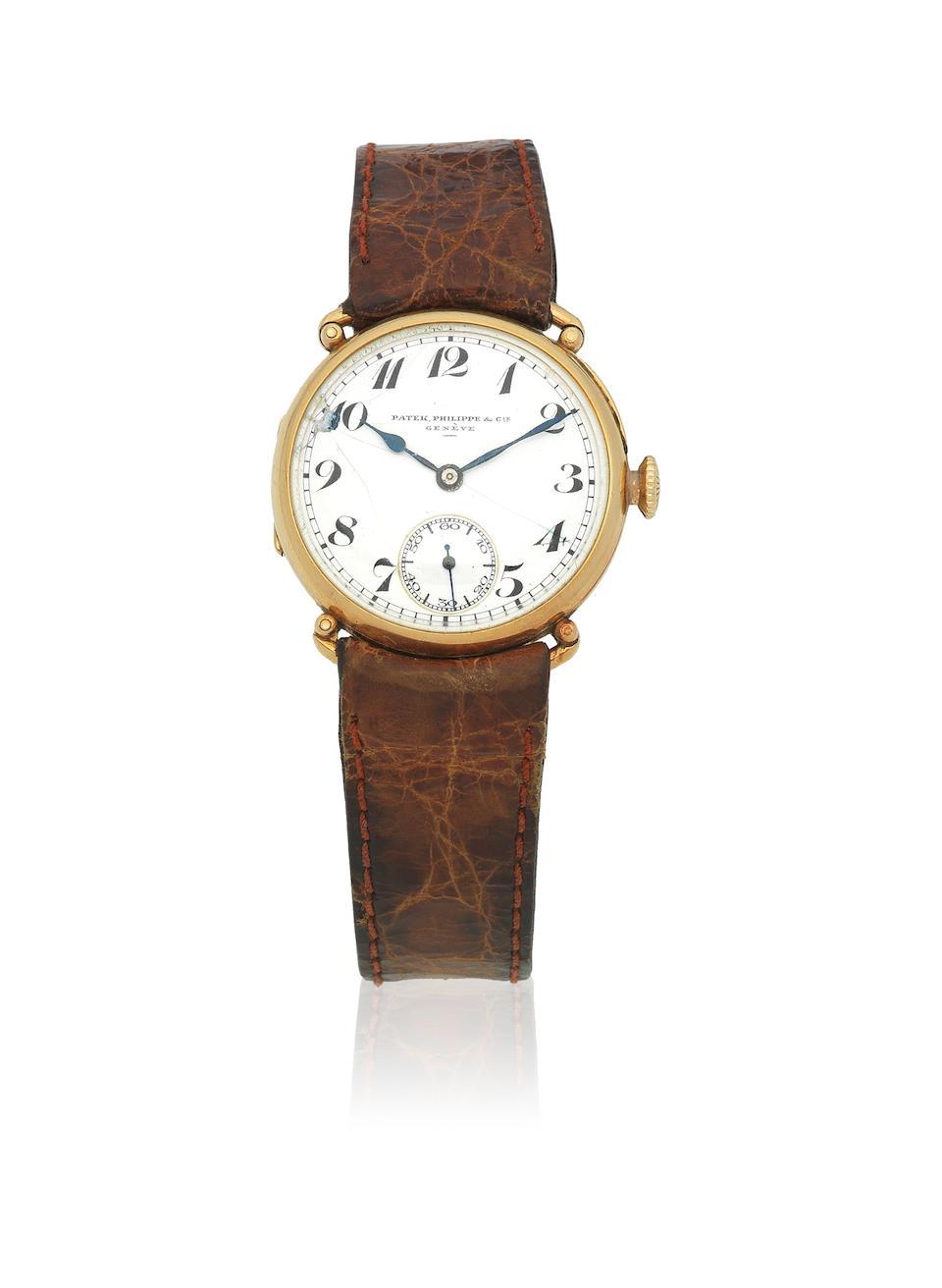 Patek Philippe. An 18K gold manual wind wristwatch Circa 1925