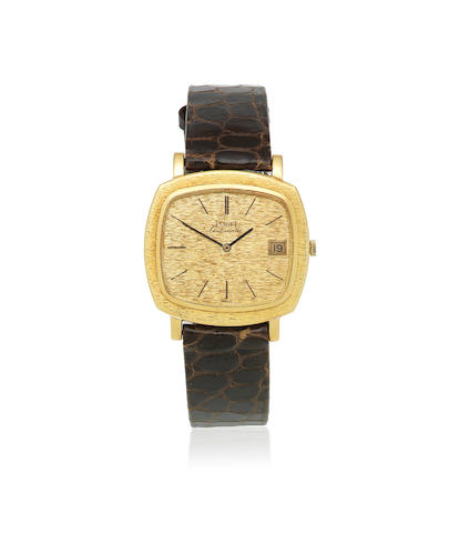 Piaget. An 18K gold automatic cushion form calendar wristwatch Ref: 13431 A6, Birmingham Import mark for 1974